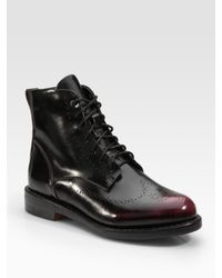 Rag & Bone | Black Wessex Patent Leather Lace-up Ankle Boots | Lyst