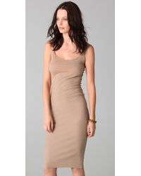 Raquel Allegra - Natural Layering Tank Dress - Lyst