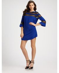 Rebecca Taylor | Blue Romantic Silk Tunic Dress | Lyst