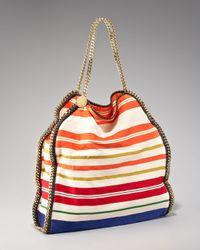 Stella McCartney | Multicolor Striped Falabella Tote | Lyst