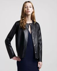 The Row | Black Double-face Leather Jacket | Lyst