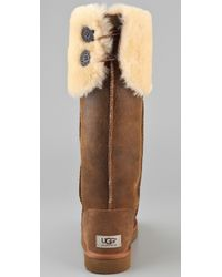 UGG - Brown Over The Knee Bailey Button Boots - Lyst