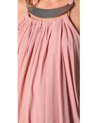 Zimmermann - Pink Neck Plate Drape Dress - Lyst