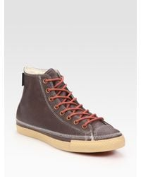 Converse - Brown Chuck Taylor Leather High-tops for Men - Lyst