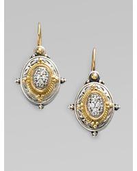 Konstantino - Metallic Sterling Silver & 18k Gold Oval Earrings - Lyst