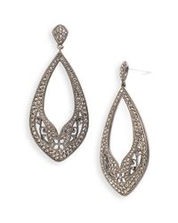 Nadri | Brown Ankara Open Drop Earrings (nordstrom Exclusive) | Lyst