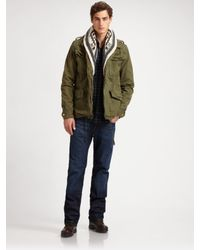 Scotch & Soda | Green Convertible Military Jacket for Men | Lyst