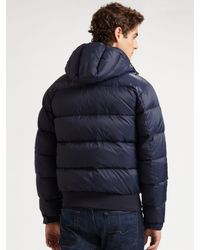 Scotch & Soda - Blue Nylon Puffer Jacket for Men - Lyst