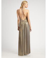 Tibi - Metallic Halter Dress - Lyst