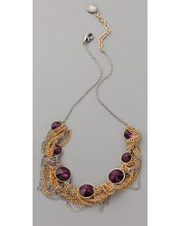 Gemma Redux | Metallic Amethyst and Chain Necklace | Lyst