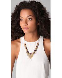 Gemma Redux - Metallic Amethyst and Chain Necklace - Lyst