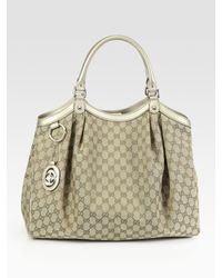Gucci | Metallic Sukey Large Top Handle Bag | Lyst