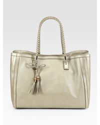 Gucci | Metallic Bella Medium Tote Bag | Lyst