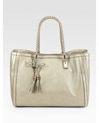Gucci | Gold Bella Medium Tote Bag | Lyst
