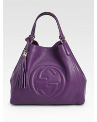 Gucci | Purple Soho Medium Shoulder Bag | Lyst