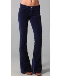 J Brand - Blue Martini Skinny Flare Velvet Pants - Lyst