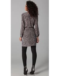 Rebecca Taylor | Black Lace Print Shirtdress | Lyst