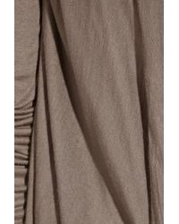 Rick Owens Lilies | Brown Draped Jersey Cardigan | Lyst