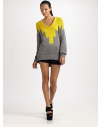 Alexander Wang | Yellow Hand-knit Intarsia Sweater | Lyst