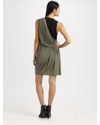 Alexander Wang | Gray Asymmetrical Draped Dress | Lyst
