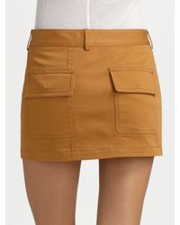 Alexander Wang - Black Utility Miniskirt - Lyst