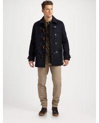 A.P.C. | Blue Classic Wool Duffle Coat for Men | Lyst