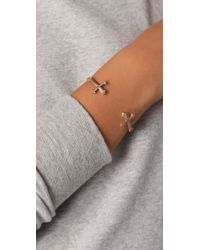 Bing Bang - Metallic Double Victorian Cross Bangle - Lyst