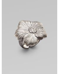 Buccellati | Metallic Blossom Sterling Silver Ring | Lyst