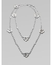 Buccellati - Metallic Blossom Sterling Silver Station Necklace - Lyst