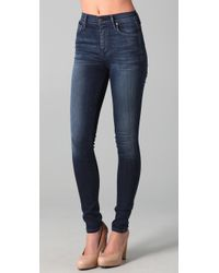 Citizens of Humanity | Blue Poison Ultra High Skinny Jeans | Lyst