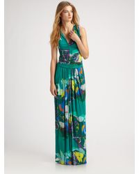 Etro | Green Maxi Dress | Lyst