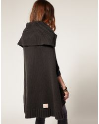 G-Star RAW - Gray Knitted Cape Jumper - Lyst