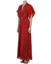 Issa | Long Kimono Dance Red Dress | Lyst
