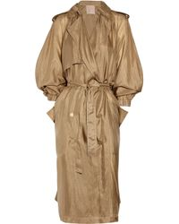 Lanvin | Natural Washed Silk-taffeta Trench Coat | Lyst