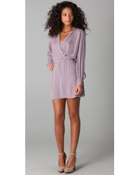 Parker | Purple Long Sleeve Dress | Lyst