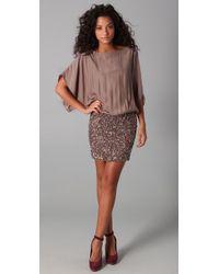 Parker | Pink Cluster Beaded Dress | Lyst