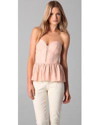 Parker | Pink Strapless Bustier Top | Lyst