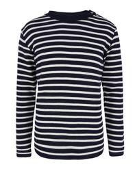 S.N.S Herning | Blue Navy & Off White Naval Sweater for Men | Lyst