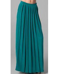 Tibi | Green Pleat Skirt | Lyst