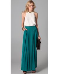 Tibi - Blue Pleat Skirt - Lyst