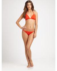 Tory Burch | Red Monogrammed Halter Bikini Top | Lyst