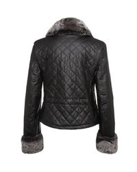 Belstaff | Black New Greenford Blouson Lady Rex Fur Jacket | Lyst
