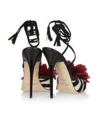 Jimmy Choo - Multicolor Faye Zebra-print Calf Hair Sandals - Lyst