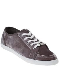 Juicy Couture - Gray Darren - Dark Cobblestone Velvet Sneaker - Lyst