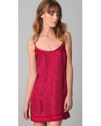 Juicy Couture | Red Pixie Silk Nighty | Lyst