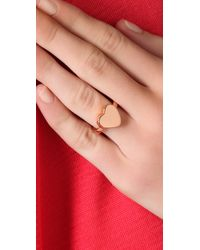 Marc By Marc Jacobs | Metallic Mini Charm Heart Stacking Ring | Lyst