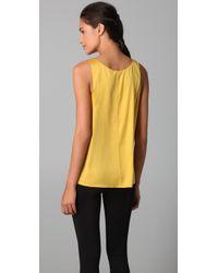 VINCE | Yellow Silk Tank - Citrus | Lyst