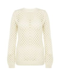 Adam Lippes | Natural Open Knit Jumper | Lyst