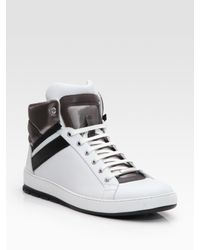Dior Homme - White High-top Sneakers for Men - Lyst