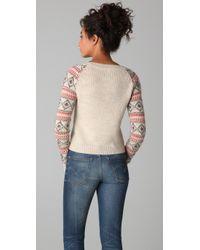 Ella Moss - Natural Jolene Fair Isle Sweater - Lyst